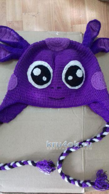 вязание крючком зимние шапки для детей шапочки детские теплые